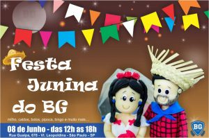 banner festa junina do BG